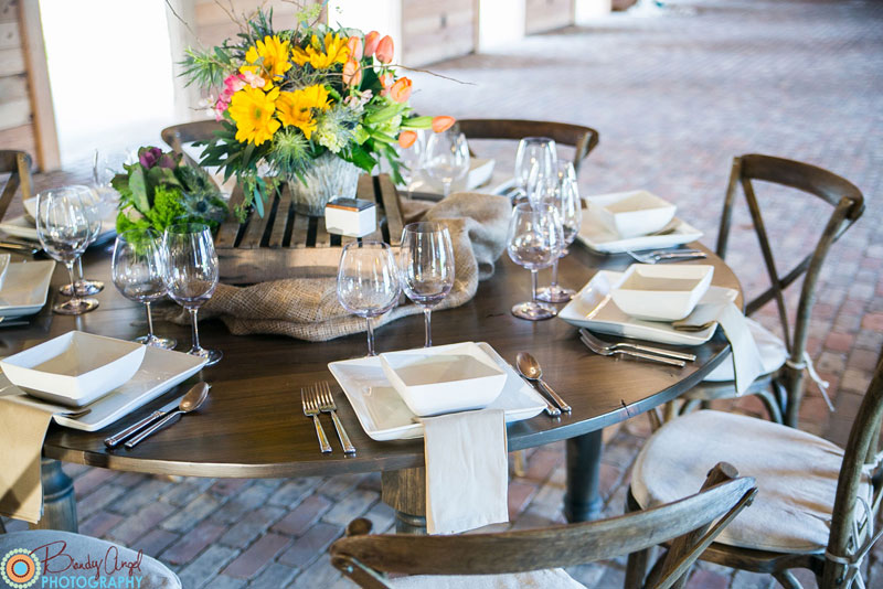 Round Farm Table Wedding
