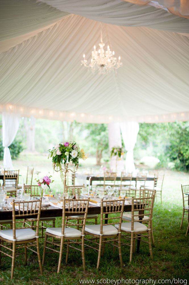 Gorgeous wedding tent with chandeliers lake oconee event rentals atlanta chandelier rental mozeypictures Choice Image