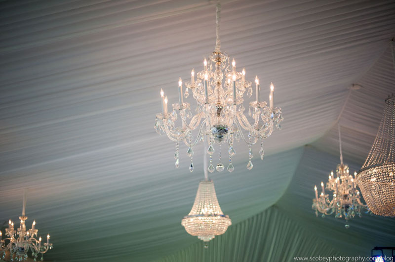 Gorgeous wedding tent with chandeliers lake oconee event rentals tent liner chandelier aloadofball Images
