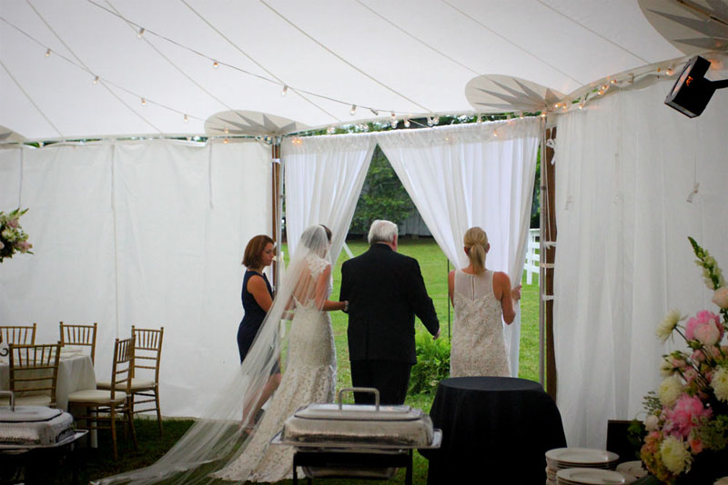Sailcloth tent wedding athens ga wedding tent rental for Wedding dresses in athens ga