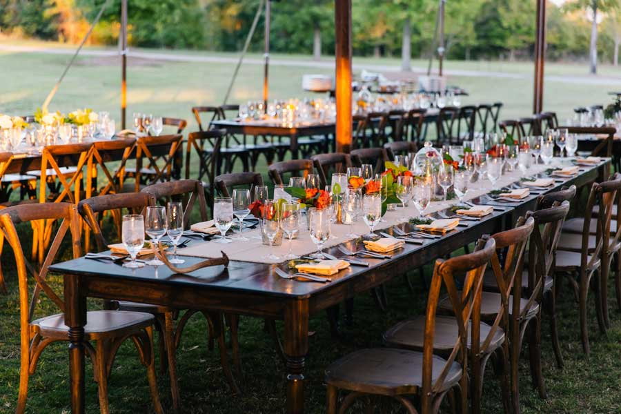 Atlanta farm tables for rent