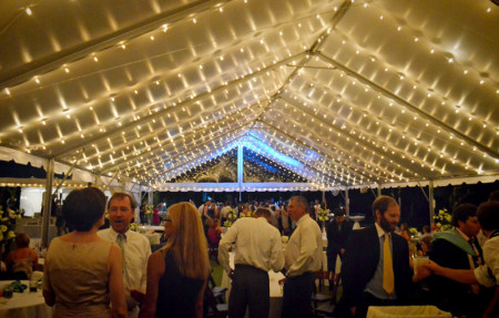 Cafe-string-lighting-in-a-frame-tent-photo