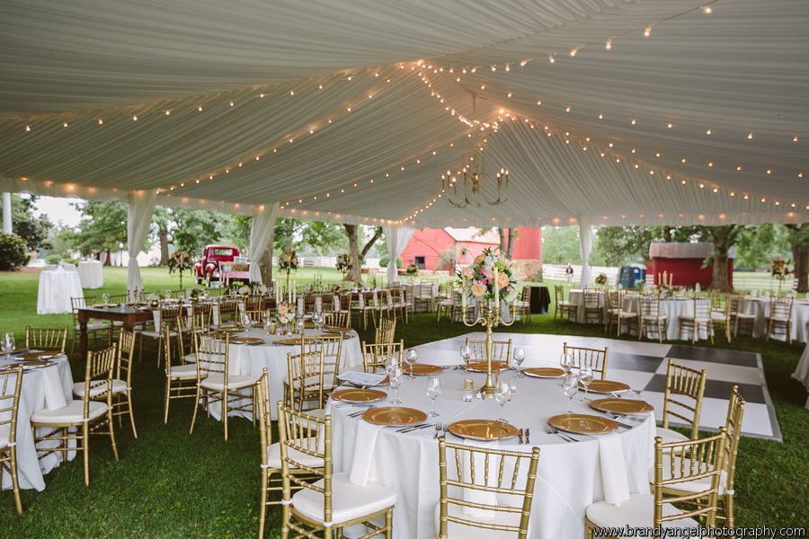 Tent Liner with string lighting and chandelier