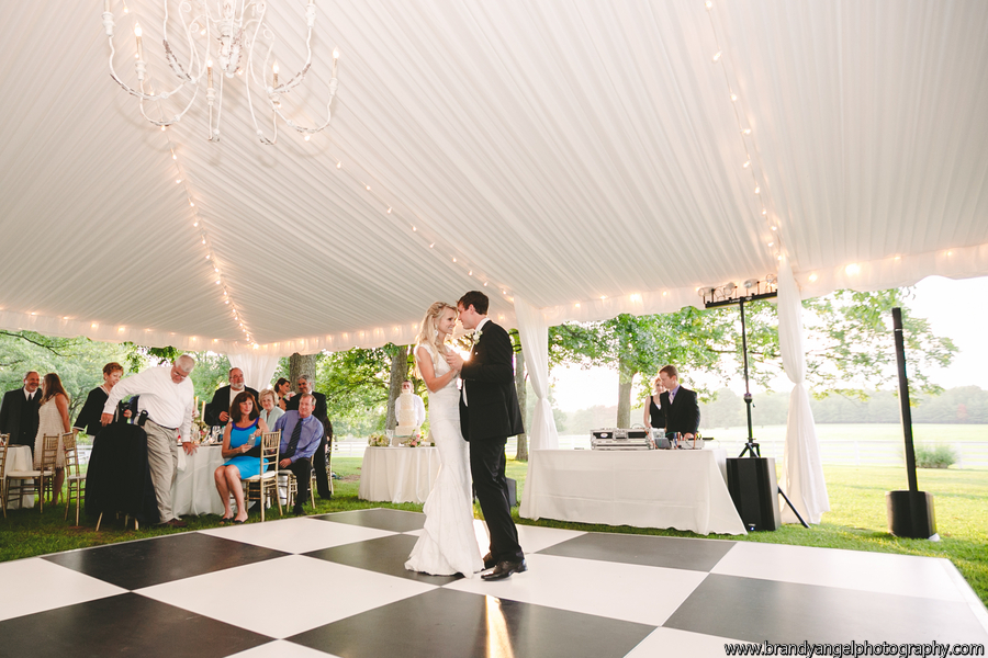 black and white dance floor wedding