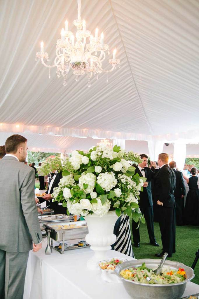 Tent-with-liner-and-crystal-chandelier