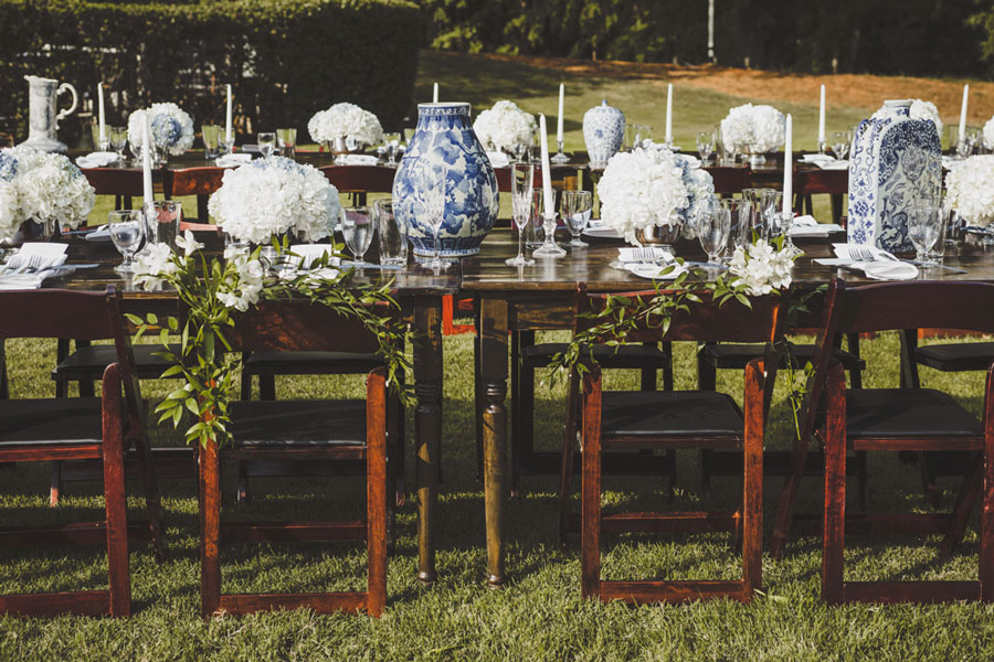 ideas for reception farm tables