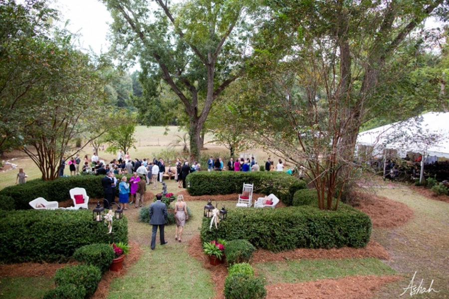 ga backyard tent wedding