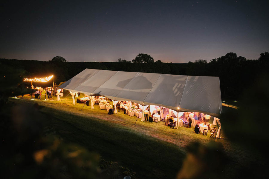 50'x90' Frame Tent Rental for a wedding