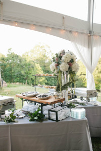 food table ideas for a tent reception