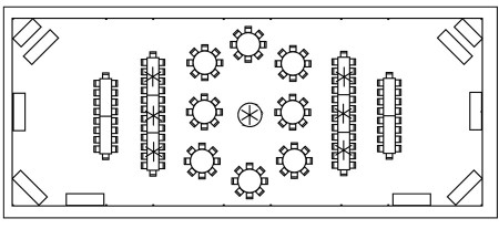 Tent Layout-40x100-160 Guests