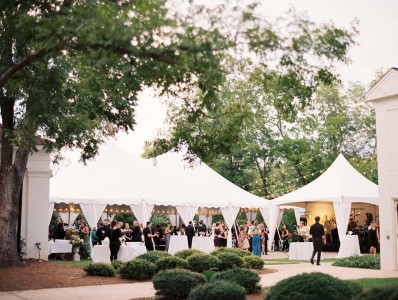 picture of a tent installed at Taylor Grady