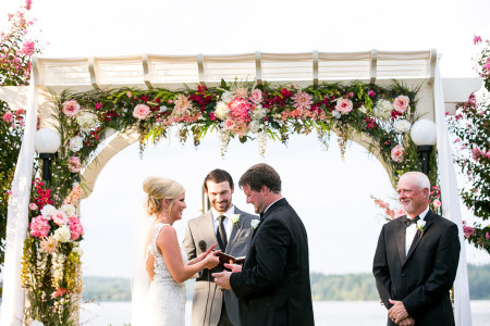 Georgia Lake weddings at rental house