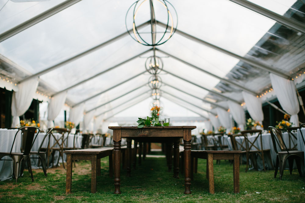 Clear Top wedding dinner tent