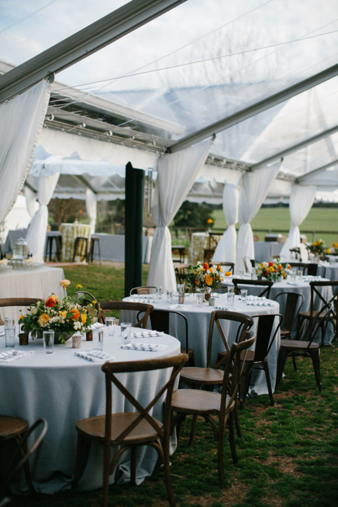 crossback chairs in wedding photos