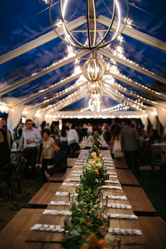 clear tent with lighting photo