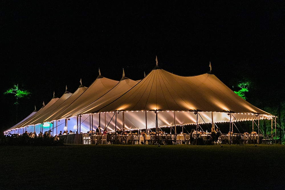 Photo of a Sailcloth Tent at Night